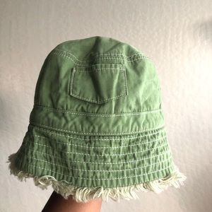 J. Crew frayed edge green bucket hat size Sml/Med